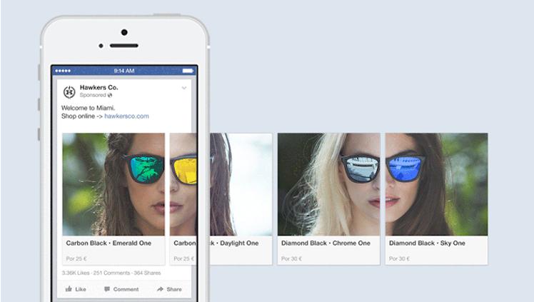 facebook carousel ad