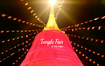 wat saket temple fair