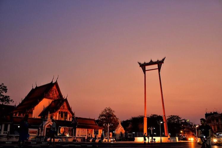 giant swing sunset